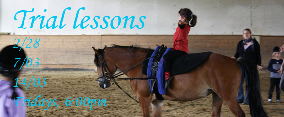 Trial lessons in February and March